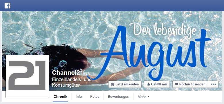 Channel21 bei Facebook