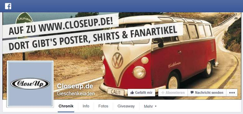 Close Up bei Facebook