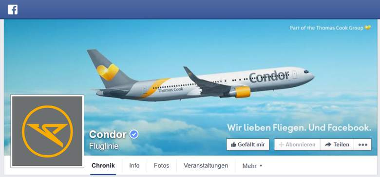 Condor bei Facebook