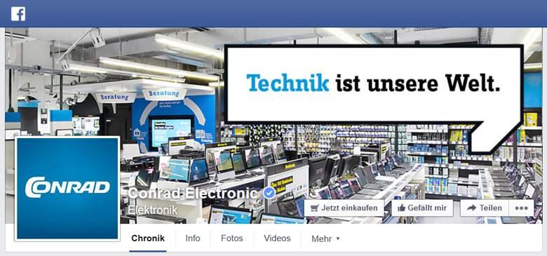 Conrad bei Facebook