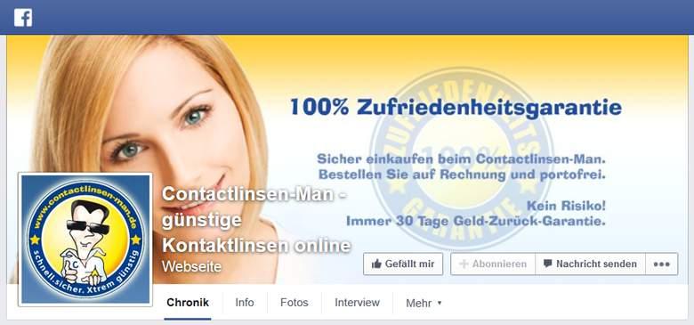 contactlinsen-man bei Facebook