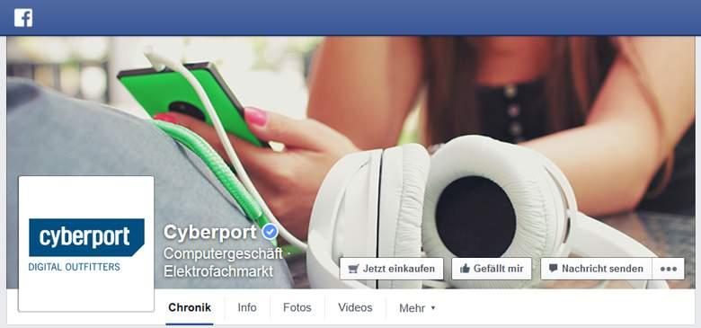 Cyberport bei Facebook