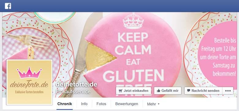 Deine Torte bei Facebook