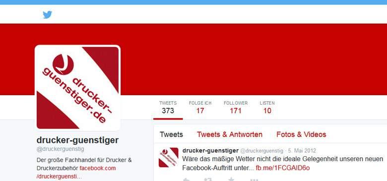 Drucker-günstiger bei Twitter