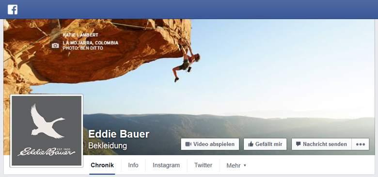 Eddie Bauer bei Facebook