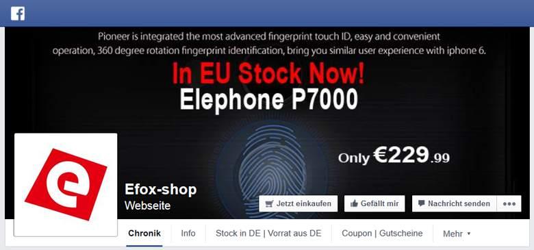 eFox bei Facebook