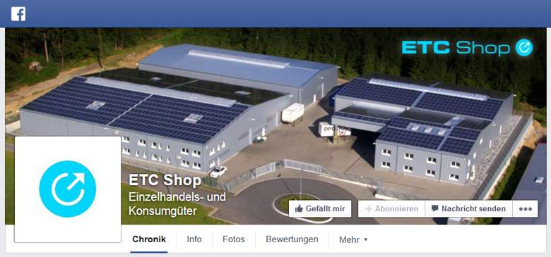 ETC Shop bei Facebook