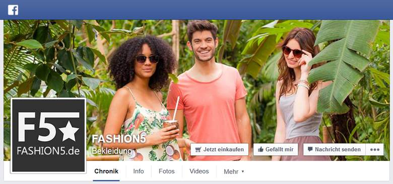 FASHION5 bei Facebook