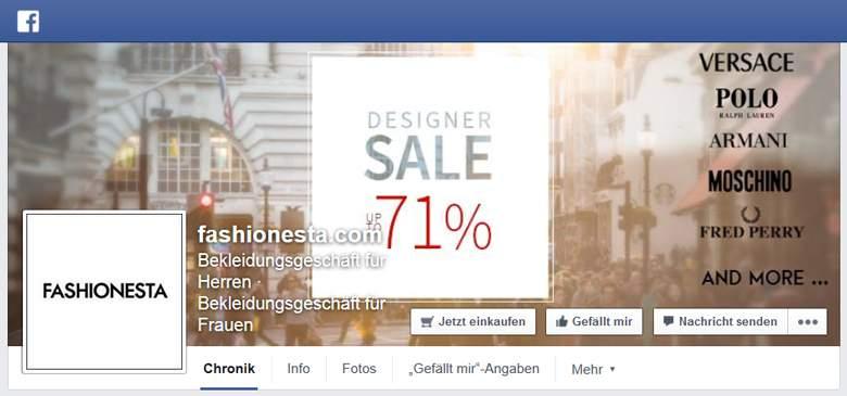 FASHIONESTA bei Facebook