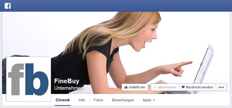 Finebuy bei Facebook