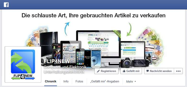 FLIP4NEW bei Facebook