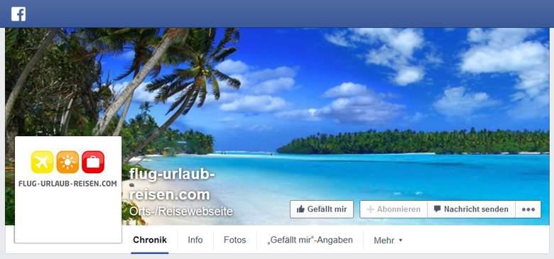 Flug-Urlaub-Reisen bei Facebook