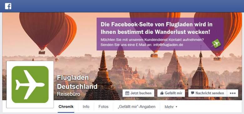 Flugladen bei Facebook