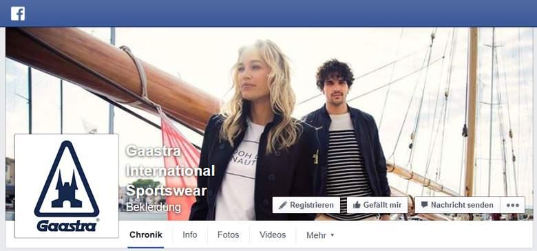 Gaastra bei Facebook