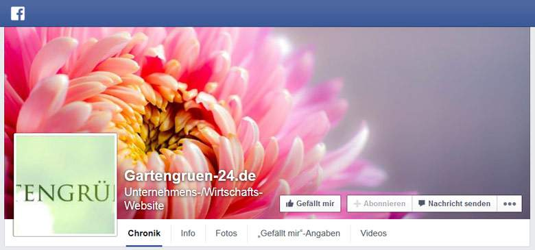 Gartengrün 24 bei Facebook