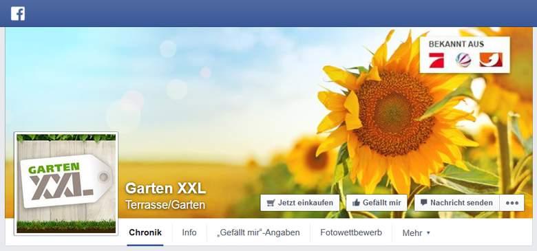 GartenXXL bei Facebook