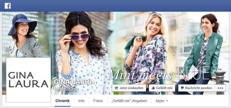 Gina Laura bei Facebook