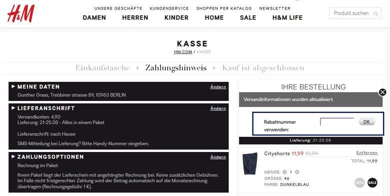 H&M Einkaufstasche
