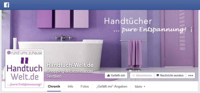 Handtuch Welt bei Facebook