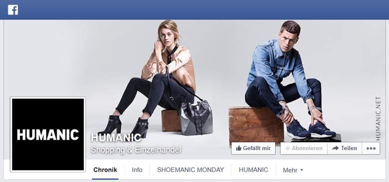 Humanic bei Facebook