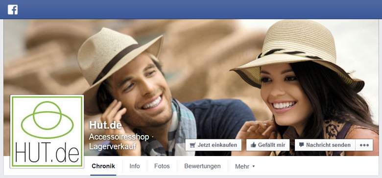 Hut.de bei Facebook