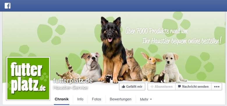 Futterplatz bei Facebook