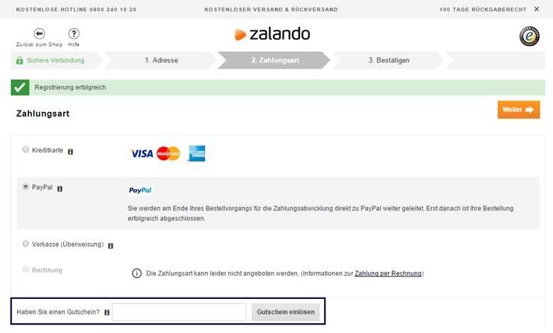 Rabattcode Zalando