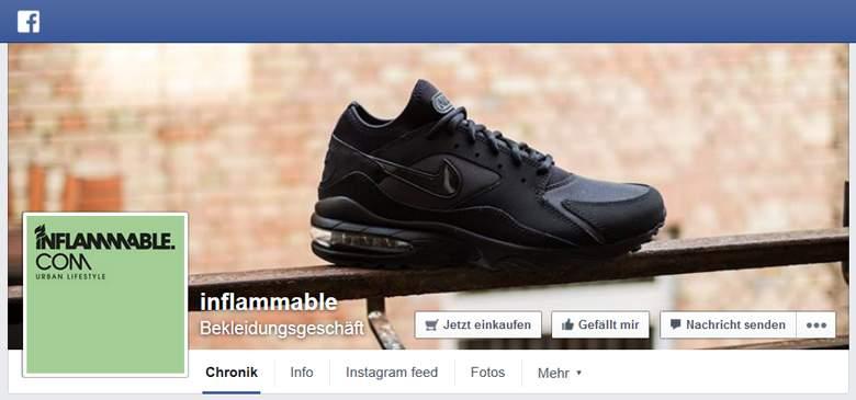 inflammable bei Facebook