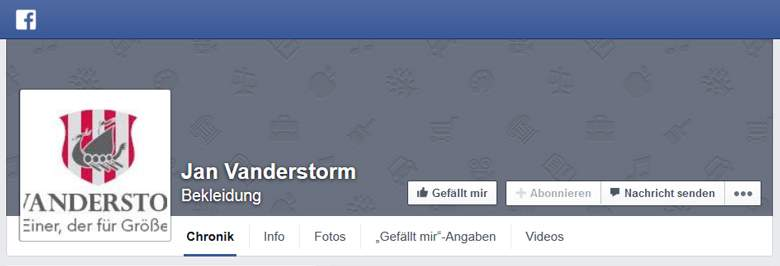 Jan Vanderstorm bei Facebook