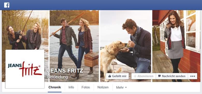 Jeans Fritz bei Facebook