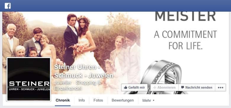 Juwelier Steiner bei Facebook