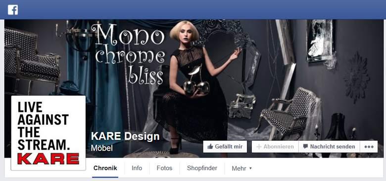 KARE bei Facebook