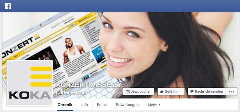 Konzertkasse bei Facebook