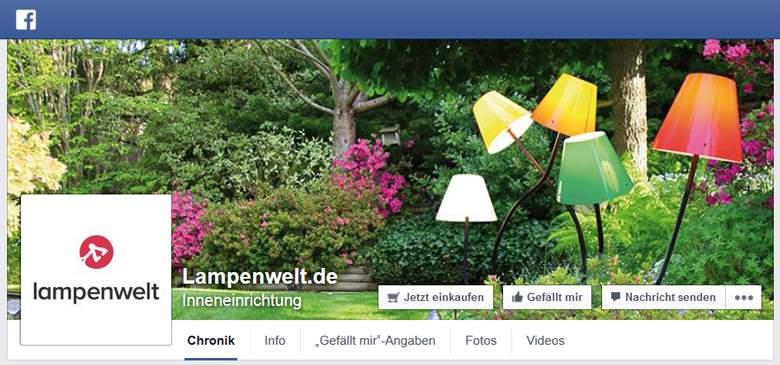 Lampenwelt bei Facebook