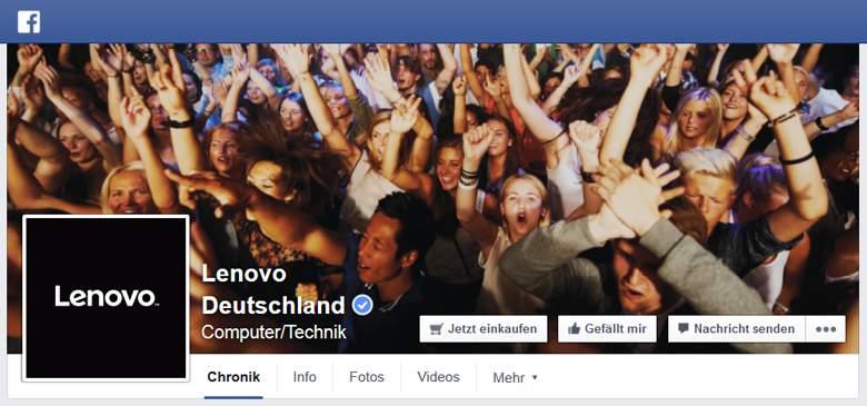 Lenovo bei Facebook