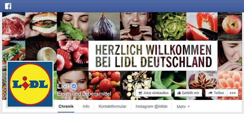 Lidl Fotos bei Facebook