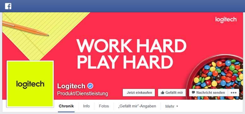 Logitech bei Facebook