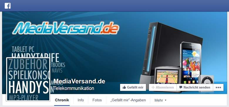 MediaVersand bei Facebook