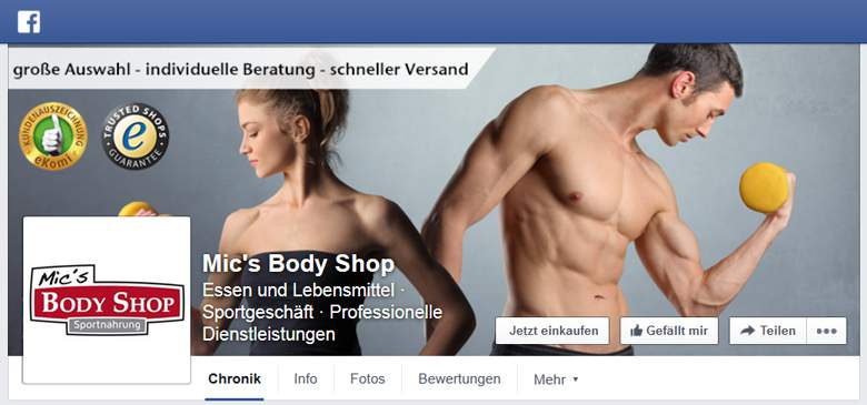 Mic's Body Shop bei Facebook