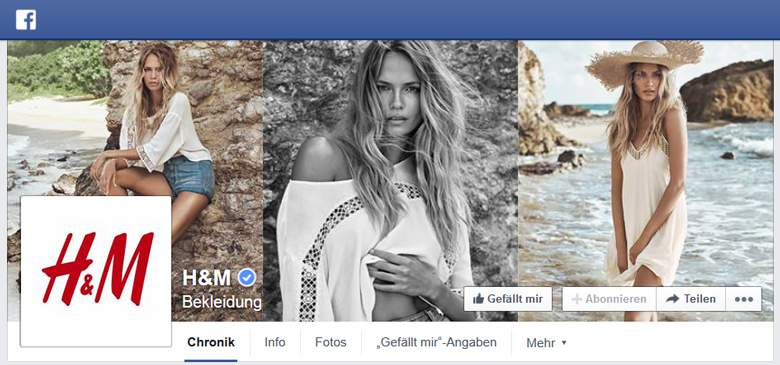 H&M bei Facebook