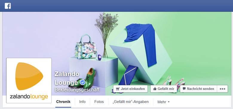 Zalando Lounge bei Facebook