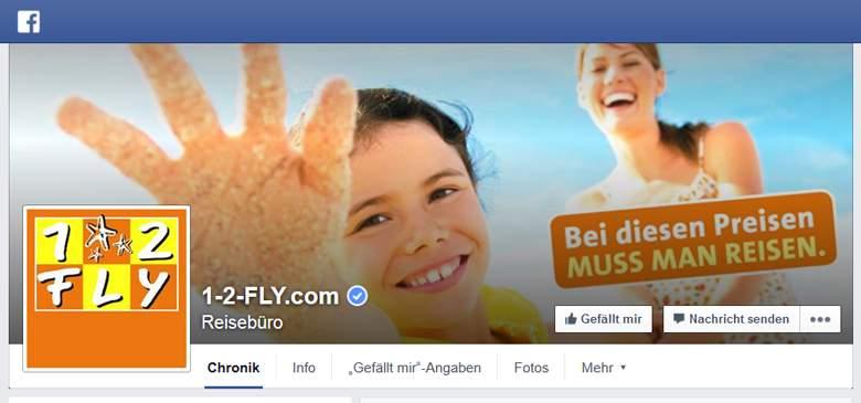 1-2 Fly bei Facebook