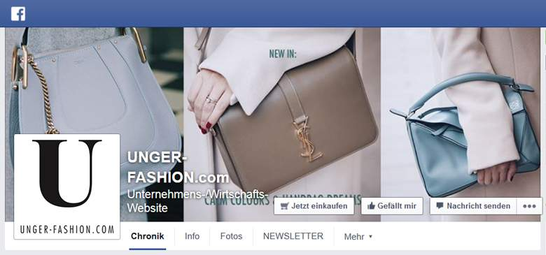 UNGER-FASHION bei Facebook