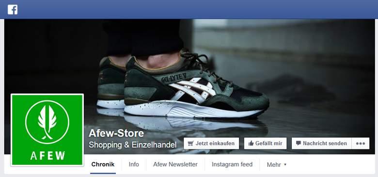 AFEW Store bei Facebook