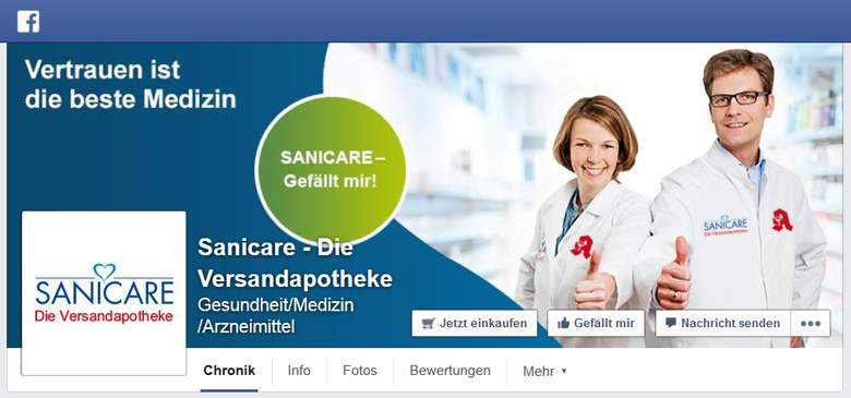SANICARE bei Facebook