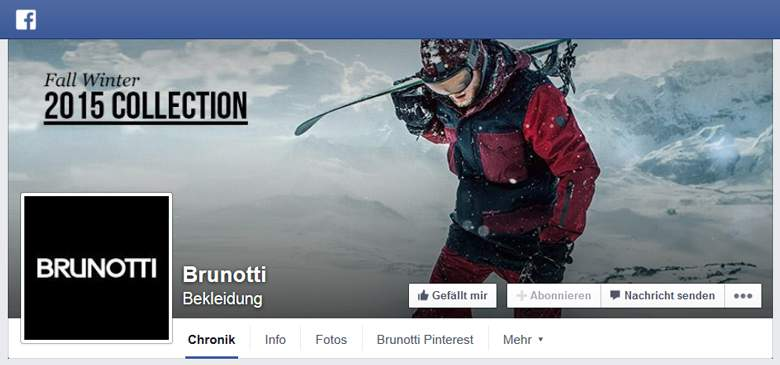 Brunotti bei Facebook