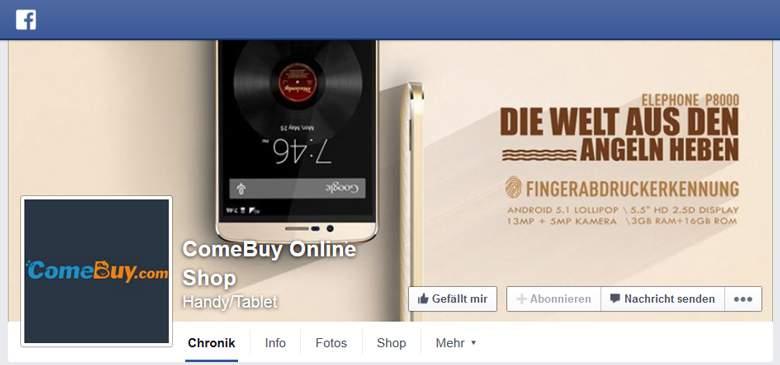ComeBuy bei Facebook