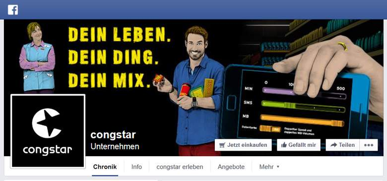 Congstar bei Facebook