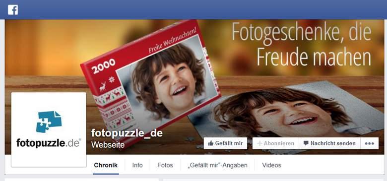 Fotopuzzle bei Facebook