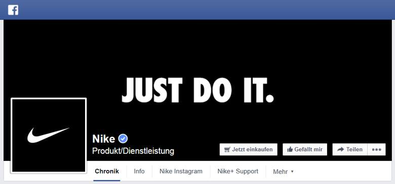 Nike bei Facebook